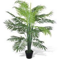 vidaXL Kunst Phoenix palmboom met pot 130 cm