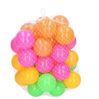 40x Ballenbak ballen neon kleuren 6 cm - Speelgoed - Ballenbakballen