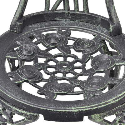 vidaXL Bistrostoelen 2 st gietaluminium groen