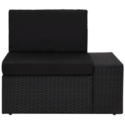 vidaXL 3-delige Loungeset poly rattan zwart