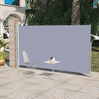 vidaXL Tuinscherm uittrekbaar 160x300 cm grijs