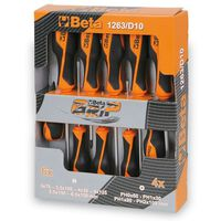Beta Tools 10-delige schroevendraaier set 1263/D10 staal