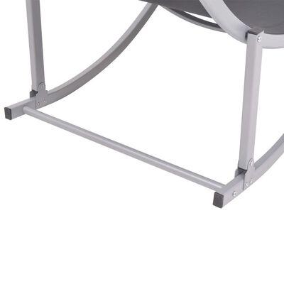 vidaXL Ligbedden inklapbaar 2 st aluminium en textileen