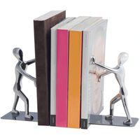 boekensteun Shadow 17 x 27 cm zink chroom 2 stuks