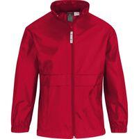 Regenkleding voor jongens/meisjes rood - Sirocco windjas/regenjas