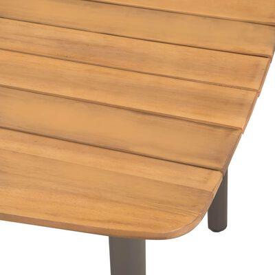 vidaXL Tuintafel 150x90x72 cm massief acaciahout en staal