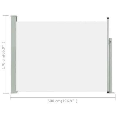 vidaXL Tuinscherm uittrekbaar 170x500 cm crème