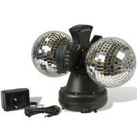Party Fun Lights Disco-bal met LED verlichting set van 2