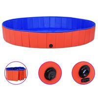 vidaXL Hondenzwembad inklapbaar 200x30 cm PVC rood