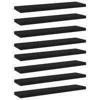 vidaXL Wandschappen 8 st 40x10x1,5 cm spaanplaat zwart