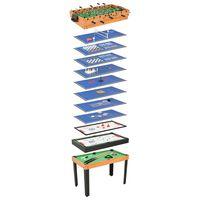 vidaXL Multispeeltafel 15-in-1 121x61x82 cm esdoornkleurig