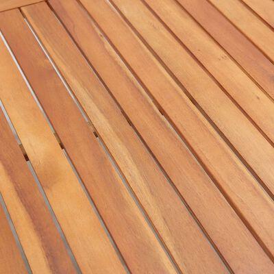 vidaXL Tuintafel 200x200x74 cm poly rattan en acaciahout grijs