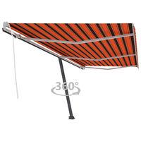 vidaXL Luifel vrijstaand handmatig uittrekbaar 600x300 cm oranje bruin
