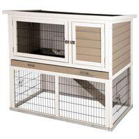 Kerbl Knaagdierenhuis Lucky met metalen bodem 115x65x100 cm wit