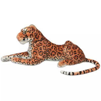 vidaXL Speelgoedluipaard pluche bruin XXL