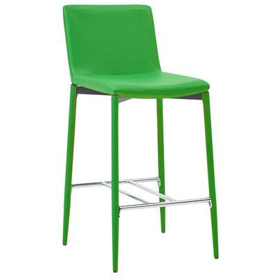 vidaXL Barkrukken 2 st kunstleer groen