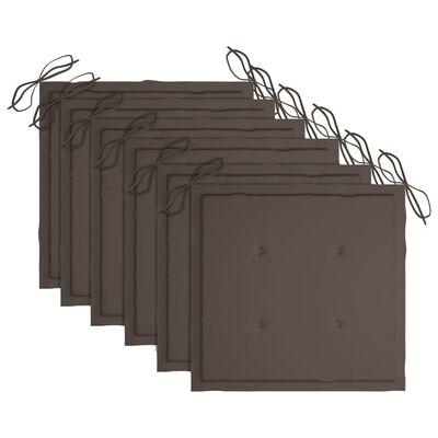 vidaXL Tuinstoelen 6 st inklapbaar met kussens massief acaciahout