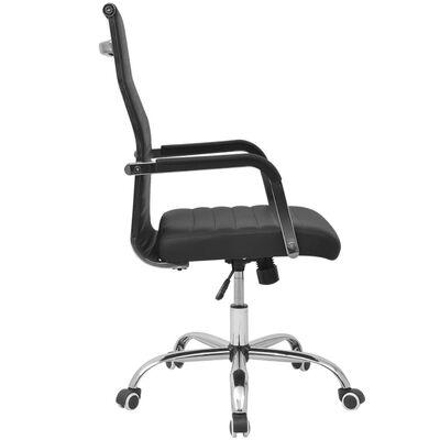 vidaXL Bureaustoel 55x63 cm kunstleer zwart