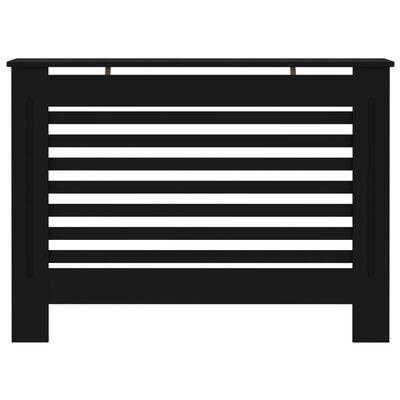 vidaXL Radiatorombouw 112x19x81 cm MDF zwart