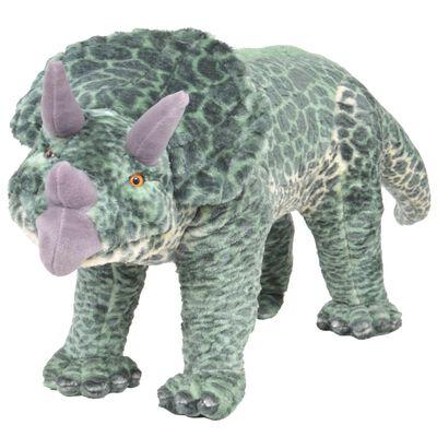 vidaXL Speelgoeddinosaurus staand XXL pluche groen