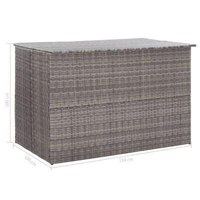 vidaXL Tuinbox 150x100x100 cm poly rattan grijs