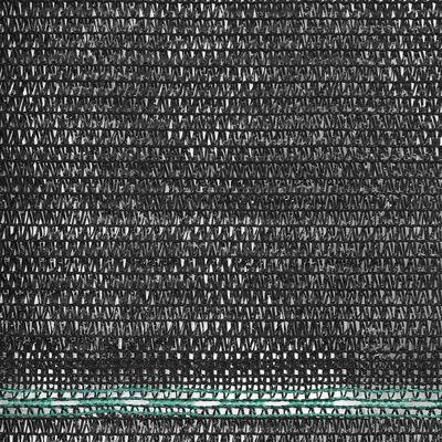 vidaXL Tennisscherm 1,4x50 m HDPE zwart