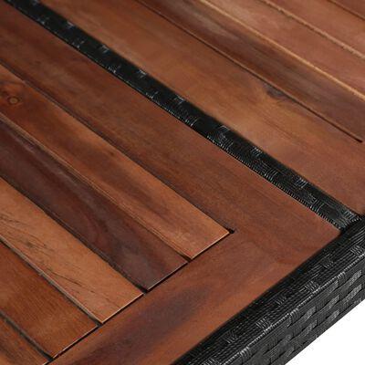 vidaXL Tuintafel 240x90x74 cm poly rattan en massief acaciahout