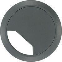2x Kabeldoorvoer met afdichtplaatje licht grijs 60 mm -