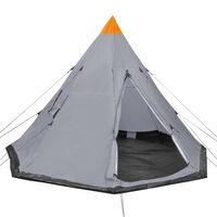 vidaXL Tent 4-persoons grijs