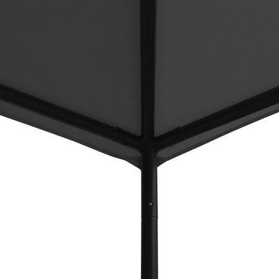 vidaXL Prieel 180 g/m² 3x3 m stof en staal antraciet