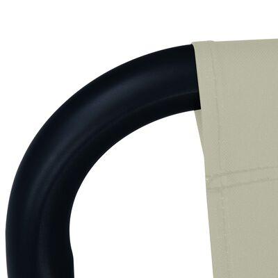 vidaXL Tuinbed 200x90 cm staal crème