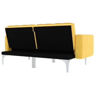 vidaXL Slaapbank stof geel