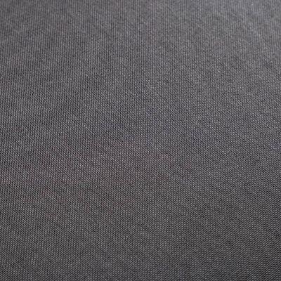 vidaXL 2-delige Fauteuilset met hocker stof zwart