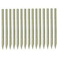 vidaXL Palen met punt 15 st 4x150 cm geïmpregneerd grenenhout