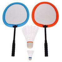 Get & Go Badmintonset XXL oranje en blauw