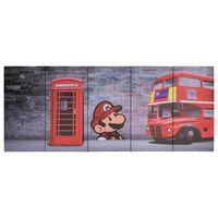 vidaXL Wandprintset Londen 200x80 cm canvas meerkleurig