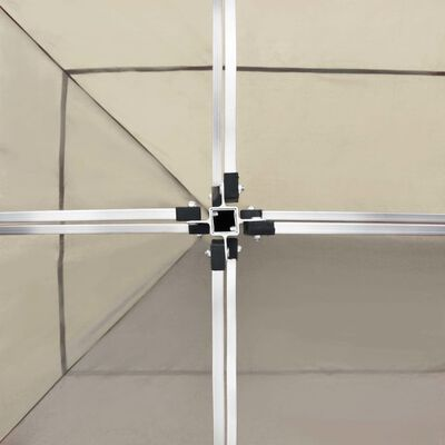 vidaXL Partytent professioneel inklapbaar 6x3 m aluminium crème