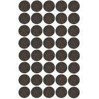40x Zwarte ronde meubelviltjes/antislip noppen 2,6 cm -