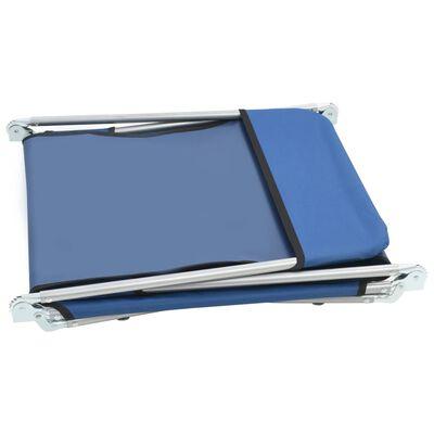 vidaXL Ligbedden inklapbaar 2 st staal en stof blauw