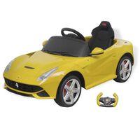 vidaXL Loopauto Ferrari F12 geel 6 V met afstandsbediening