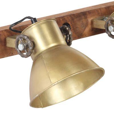 vidaXL Wandlamp industrieel E27 90x25 cm messingkleurig