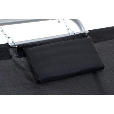 SORARA – Hangmat / Ligbed – Zwart / Grijs – Stevig