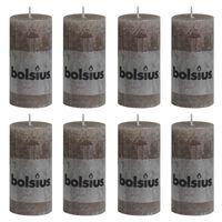 Bolsius Rustiekkaarsen 8 st 100x50 mm taupe