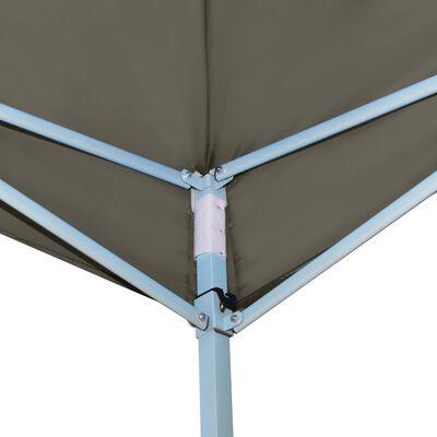vidaXL Prieel inklapbaar met 2 zijwanden 5x5 m antraciet