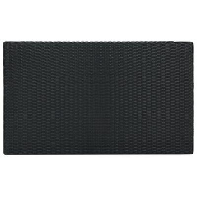 vidaXL Tuinbartafel 100x60,5x110,5 cm poly rattan zwart