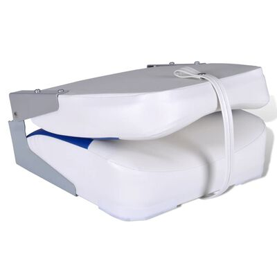 vidaXL Bootstoelen 2 st inklapbare rugleuning 41x36x48 cm blauw wit
