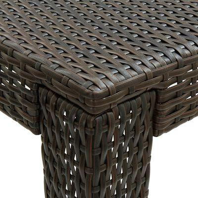 vidaXL Tuinbartafel 140,5x60,5x110,5 cm poly rattan bruin