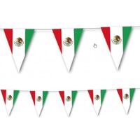 Landen thema versiering Mexico vlaggenlijn / slingers 3,5 meter