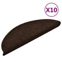 vidaXL Trapmatten zelfklevend 10 st 56x17x3 cm naaldvilt bruin