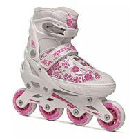 Roces inline skates Compy 8.0 meisjes wit/roze maat 30-33